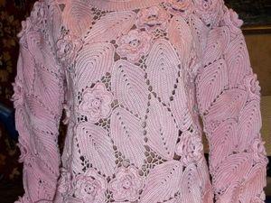 Свитер Розы Бордо. АВТОР nadezhda3344!!! И мое воплощение в розовом цвете. Ярмарка Мастеров - ручная работа, handmade.