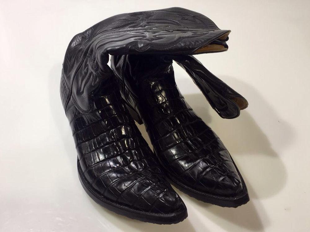 сапоги из крокодила, купить сапоги в москве, черные сапоги, стиль кантри, яркий стиль, качественные сапоги