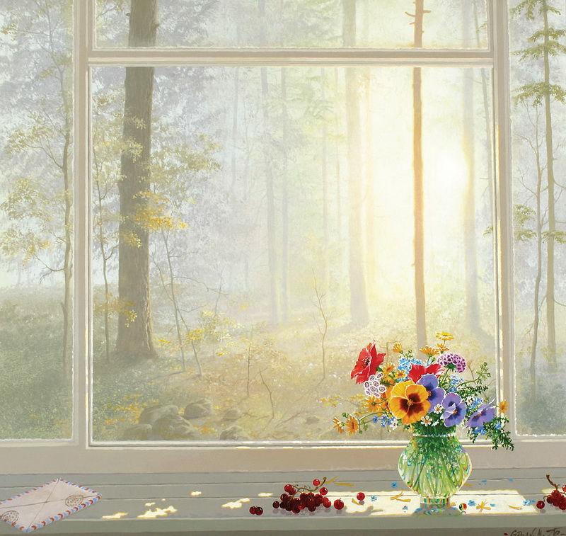 Окно утро картинки