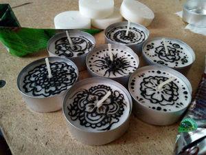 Декорирование свечей хной: видео мастер-класс. Ярмарка Мастеров - ручная работа, handmade.