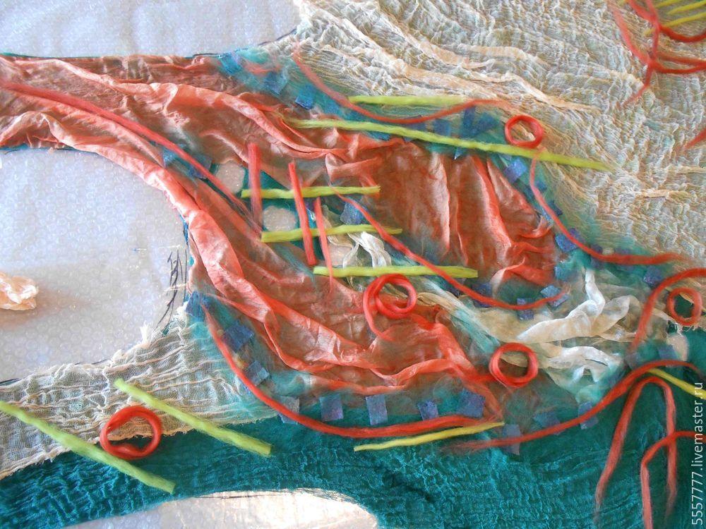 Создаем оригинальную тунику из марли и шерсти, фото № 12