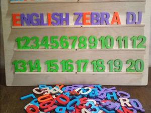 Деревянные буквы и цифры. Ярмарка Мастеров - ручная работа, handmade.