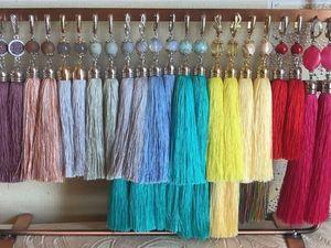 Распродажа сережек из индийского шелка, всего за 500 рублей. Ярмарка Мастеров - ручная работа, handmade.