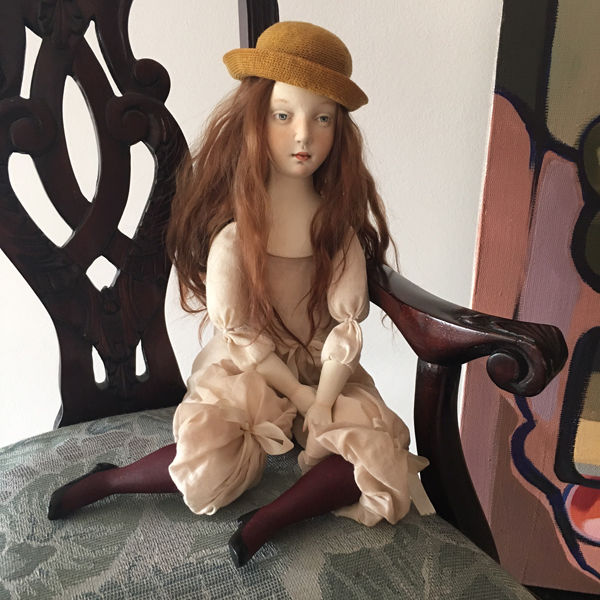 кукла, авторская кукла, будуарная кукла, в процессе, коллекция, интерьер, коллекционная кукла, шляпка, подарок, подарок женщине, подарок на любой случай