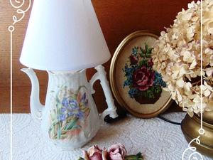 Новая коллекция   стветильников  из старинных кофейников | Ярмарка Мастеров - ручная работа, handmade