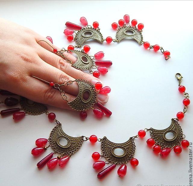 ожерелье, аукцион на комплект украшений