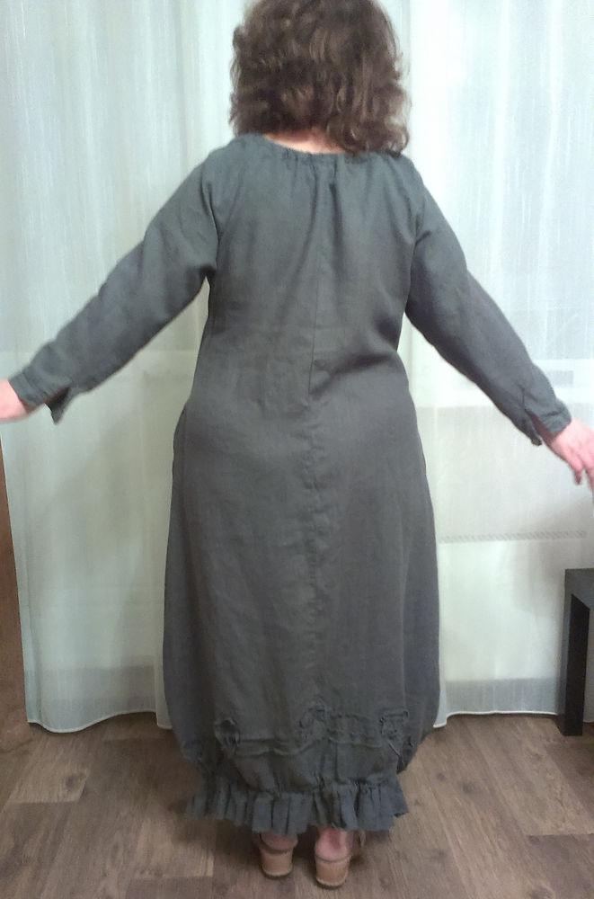 большой размер, платье 56 размер, льняное платье, бохо