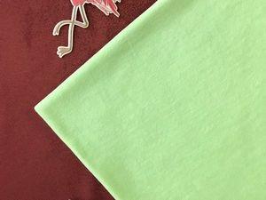 В наличии Велюр Нежно-салатовый. Ярмарка Мастеров - ручная работа, handmade.