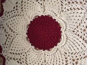 Скидка 10% на вязаные ковры и салфетки. Ярмарка Мастеров - ручная работа, handmade.