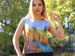 Валяная блузка Бабье Лето!. Ярмарка Мастеров - ручная работа, handmade.