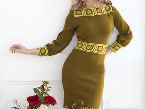 Аукцион на вязаное платьице с декором ручной работы! Старт 3000 р. !. Ярмарка Мастеров - ручная работа, handmade.