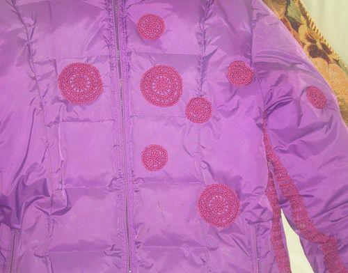 Кружки на куртке