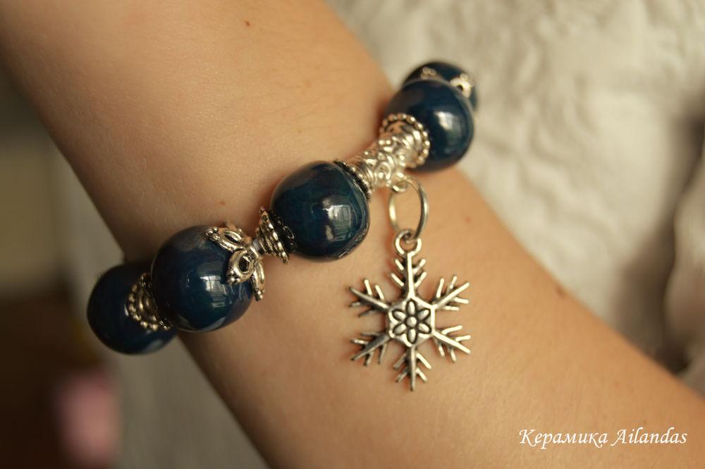 керамический браслет, браслет в подарок, для себя любимой, жук скоробей