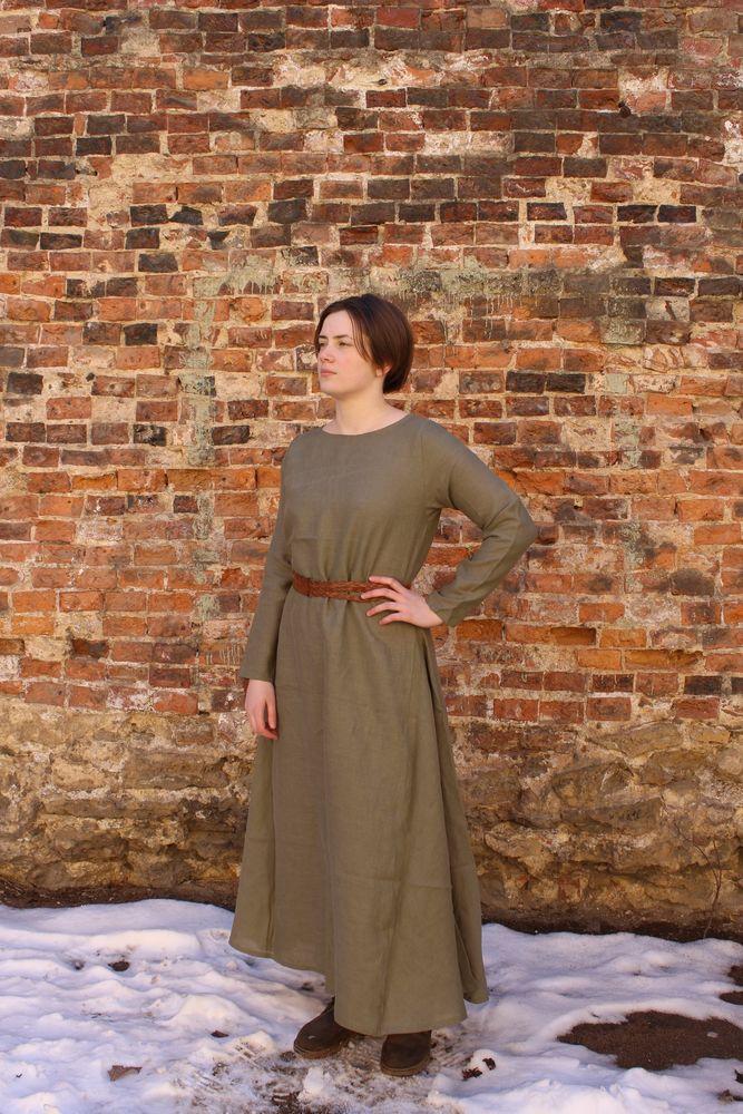историчный, платье, мшистый, наряд