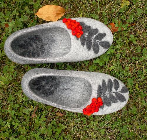 Фото валяние тапочек из шерсти мастер класс