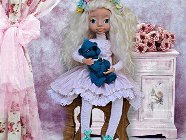 Интерьерная куколка Машенька | Ярмарка Мастеров - ручная работа, handmade