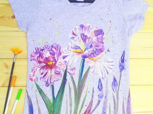 Акция этих выходных: 2 футболочки с ручной росписью всего 2600. Ярмарка Мастеров - ручная работа, handmade.