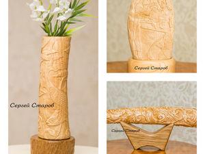 Вазы и статуэтки ручной работы из дерева! Скидки каждому покупателю!. Ярмарка Мастеров - ручная работа, handmade.