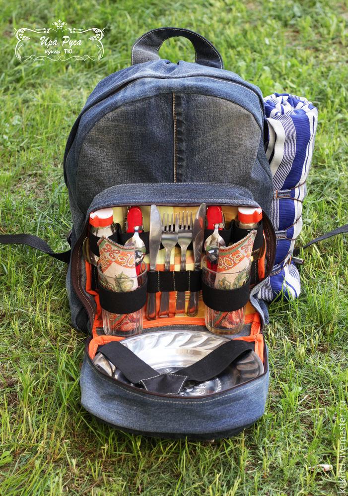 Шьем из джинсовой ткани удобный рюкзак для пикника на берегу моря, фото № 44