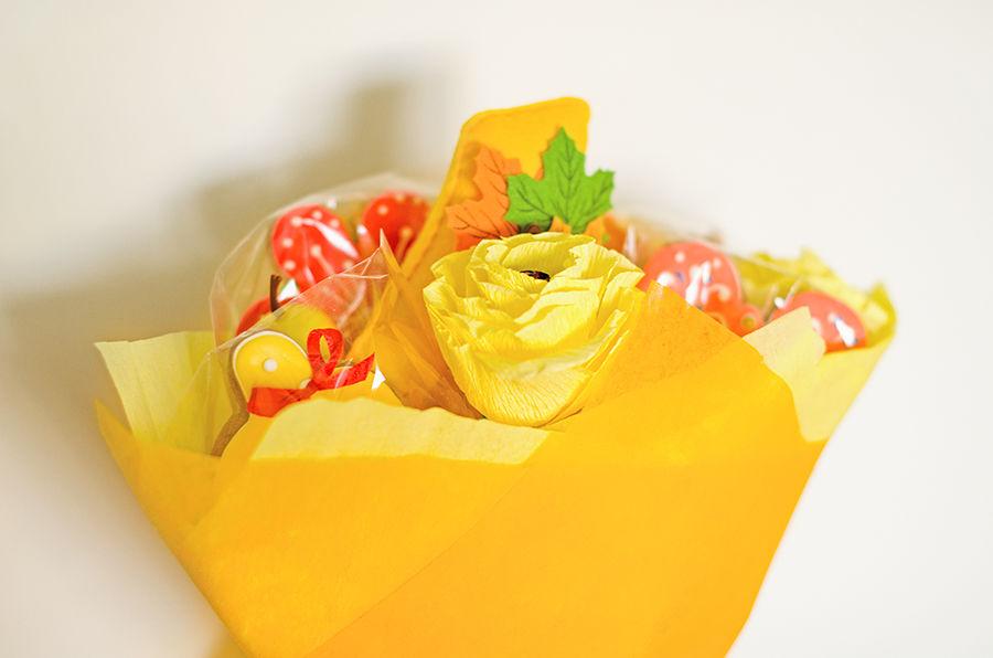 букет из пряников, 1 сентября, фетр, подарок учителю, для школы, подарок ручной работы, букет