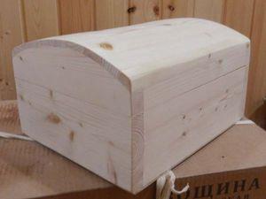 Сундучок со сводчатой крышкой из дерева. Ярмарка Мастеров - ручная работа, handmade.