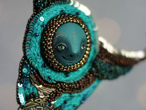 Новый вышитый кулон Хранитель снов. Ярмарка Мастеров - ручная работа, handmade.