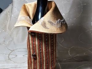 Шьем чехол-костюм на бутылку. Ярмарка Мастеров - ручная работа, handmade.