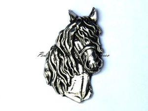 Новый значок брошь - Голова Лошади (Horse Head – New Pin Badge Brooch). Ярмарка Мастеров - ручная работа, handmade.