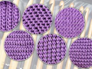 Тунисское вязание, начало. 6 узоров для начинающих. Ярмарка Мастеров - ручная работа, handmade.