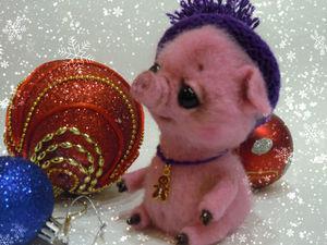 Учимся валять свинку Флуфи. Ярмарка Мастеров - ручная работа, handmade.