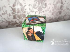 Делаем фотокубик с семейными фотографиями из старых детских кубиков. Ярмарка Мастеров - ручная работа, handmade.