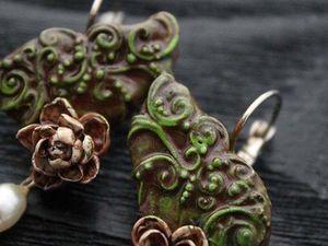 Новинка!!! Lotus Metamorphosis. Серьги из полимерной глины. Ярмарка Мастеров - ручная работа, handmade.