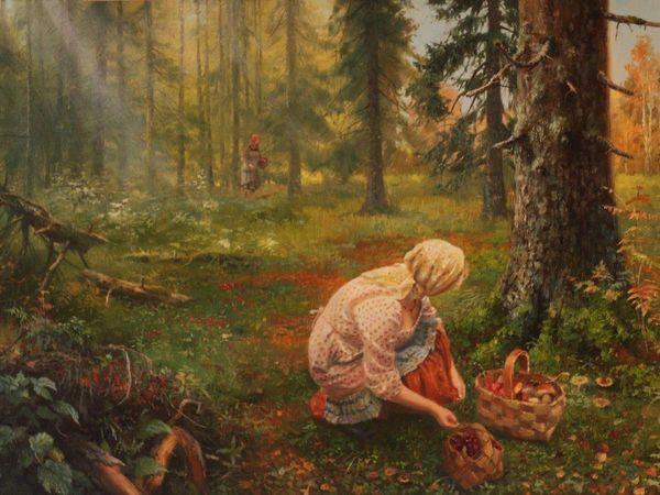 Лес пахнет сыростью грибной. | Ярмарка Мастеров - ручная работа, handmade