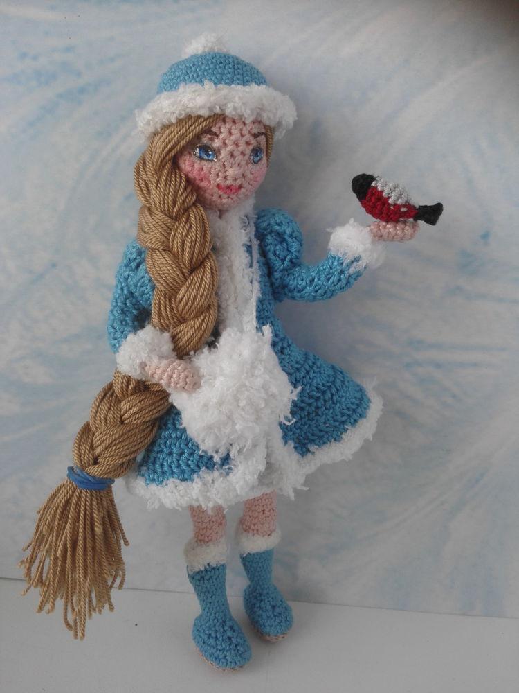 снегурочка, кукла своими руками, вязание, каркас