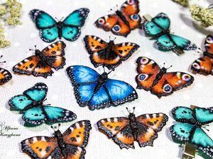 Летние броши — бабочки!. Ярмарка Мастеров - ручная работа, handmade.