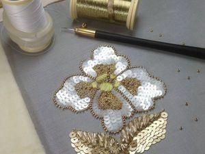 Базовый мастер-класс по люневильской вышивке | Ярмарка Мастеров - ручная работа, handmade