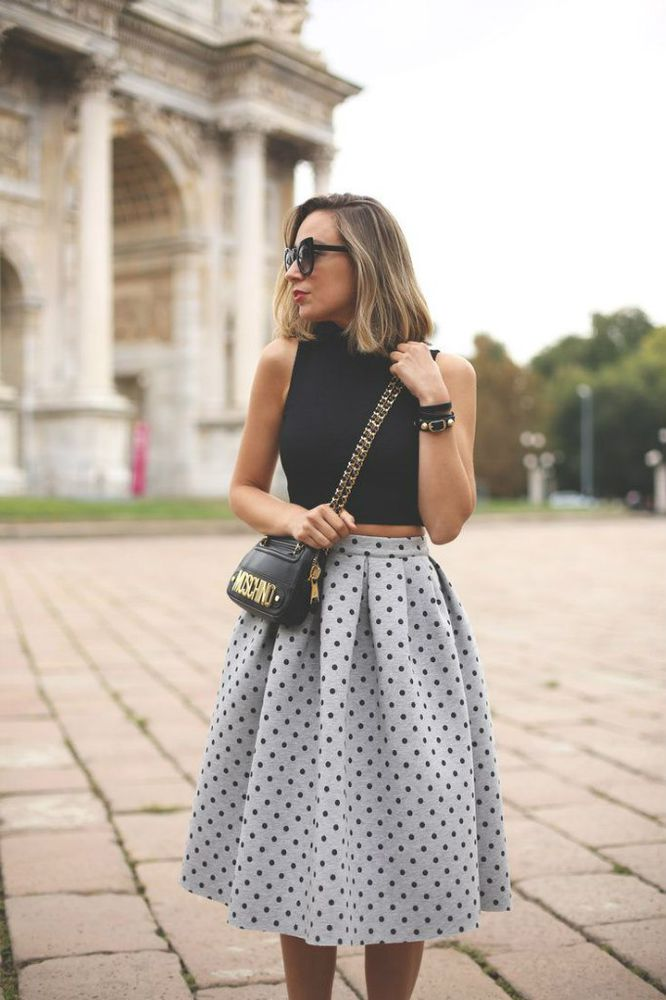 осень, радость, хорошее настроение, юбка, красивая юбка, шарф в клетку