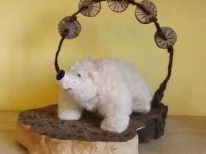 Дополнительные фото игрушек. Белый медведь на льдине под звездами. Ярмарка Мастеров - ручная работа, handmade.