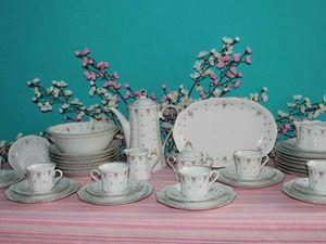 """""""Бантики и розы"""": сервиз и обеденная посуда. Ярмарка Мастеров - ручная работа, handmade."""