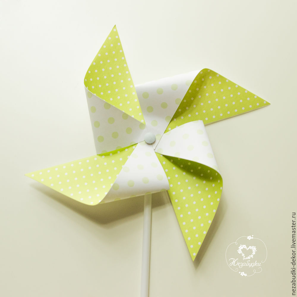 DIY for Kids and Parents: Making a Paper Wind Mill, фото № 11