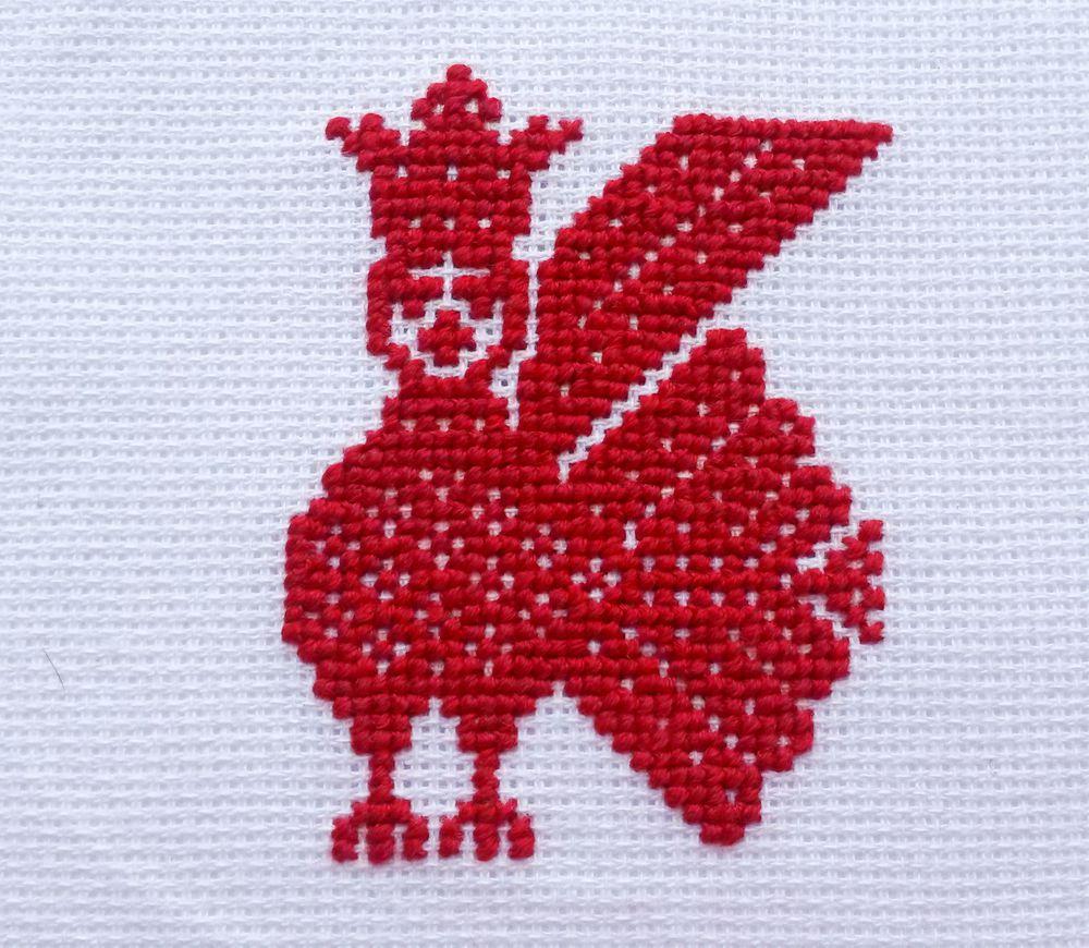 птицы на вышивке, обережная вышивка