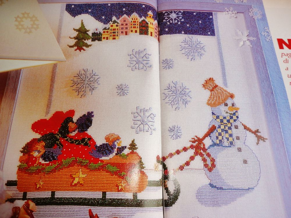 Схема вышивки рождественской скатерти