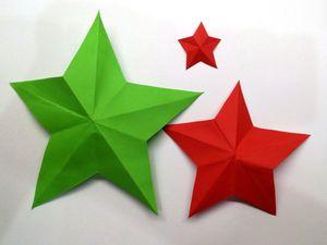 Вырезаем из бумаги правильную пятиконечную звезду. Ярмарка Мастеров - ручная работа, handmade.