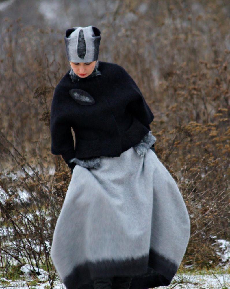 Валяная юбка с карманами. Мастер-класс Ирины Федотовой.Москва., фото № 6