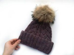 Вяжем красивую шапку с косами. Ярмарка Мастеров - ручная работа, handmade.