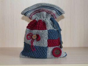 Вязаный мешочек для новогоднего подарка.. Ярмарка Мастеров - ручная работа, handmade.