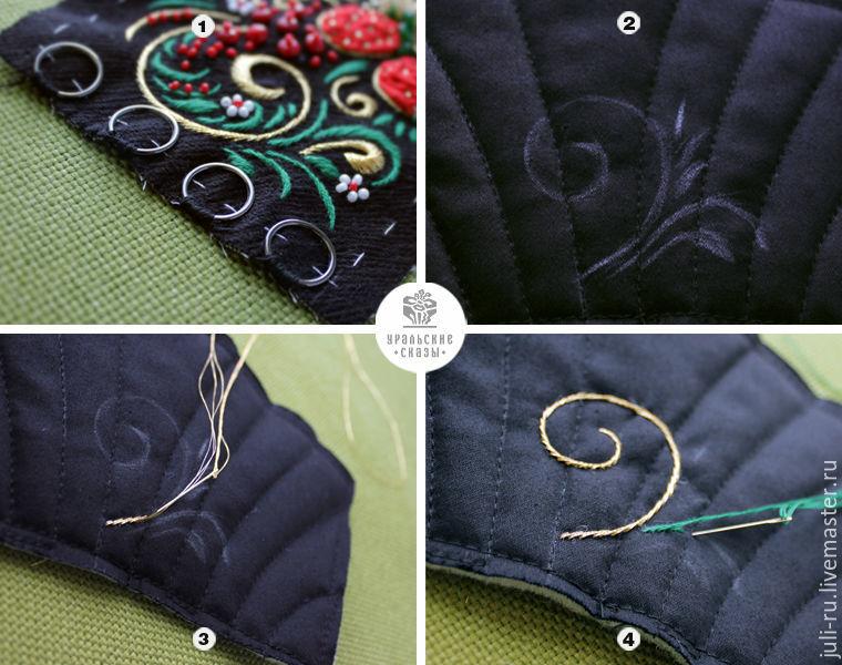 выкройка браслета вышивка