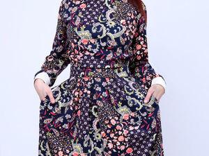 """Платье """"Весенний букет"""" 1500 руб. Ярмарка Мастеров - ручная работа, handmade."""