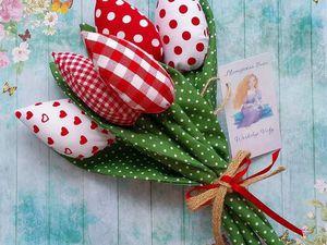 АКЦИЯ ЗАКРЫТА! -20% на Текстильные тюльпаны при заказе от 7 штук | Ярмарка Мастеров - ручная работа, handmade