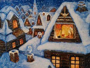 Картина  «Волшебный город». Ярмарка Мастеров - ручная работа, handmade.
